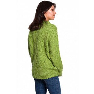 Džemper BE Knit 136423, zelena